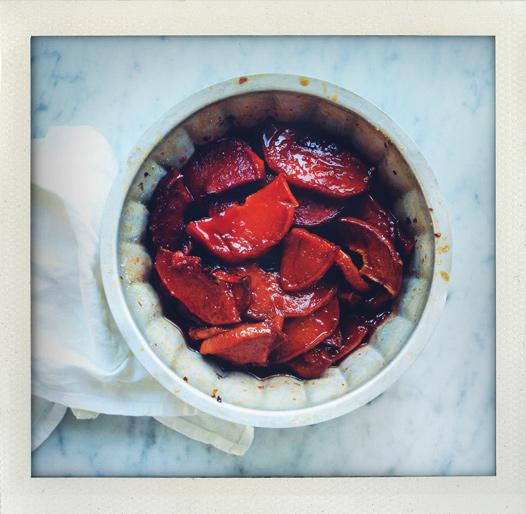 Ugnsglaserad kvitten med chili och ingefära