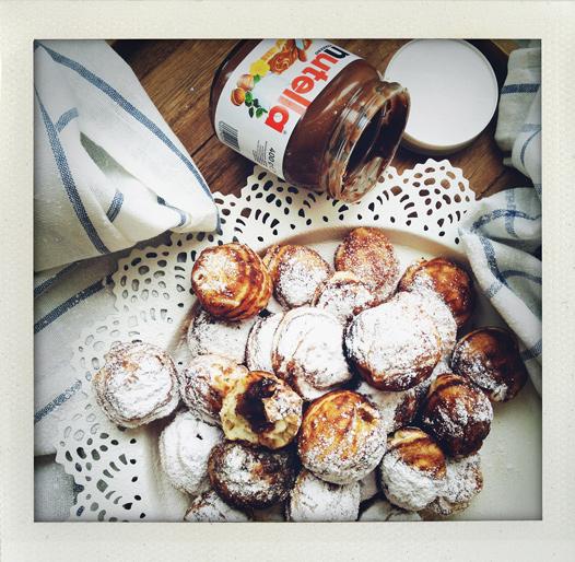 Æbleskiver med Nutella