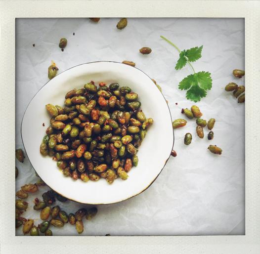rostade sojabönor recept